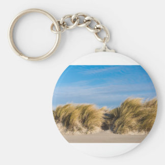 Dune on the beach of the Baltic Sea Basic Round Button Key Ring