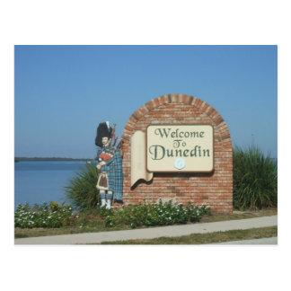 Dunedin Florida Town Sign Postcard