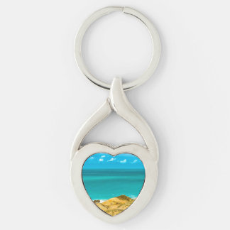 Dunes and Ocean Jericoacoara Brazil Key Ring