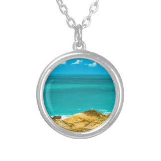 Dunes and Ocean Jericoacoara Brazil Silver Plated Necklace