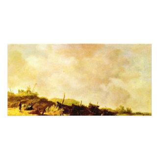Dunes By Goyen Jan Van (Best Quality) Personalized Photo Card