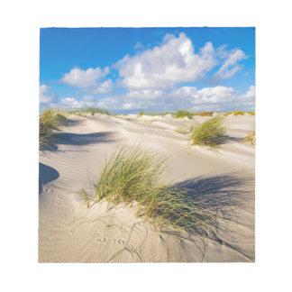 Dunes on the North Sea island Amrum Notepad