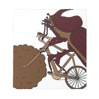 Dung Beetle Riding Bike With Dung Wheel Notepad