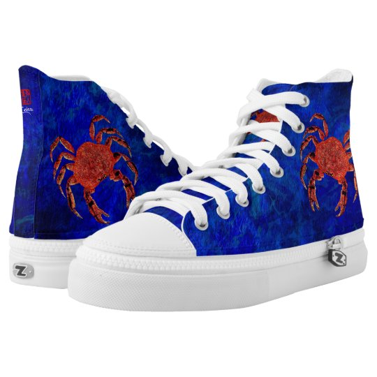Dungeness Crab - High Top Sneakers