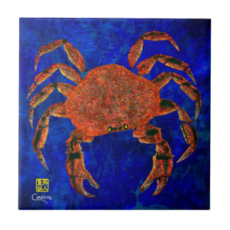 Dungeness Crab L - Small Ceramic Tile