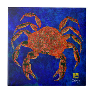 Dungeness Crab R - Small Ceramic Tile