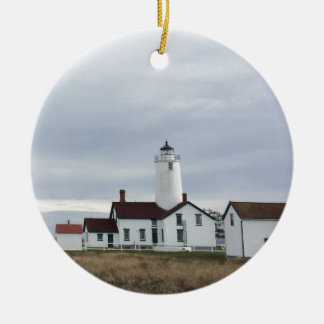 Dungeness Spit Lighthouse Washington State Ceramic Ornament