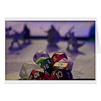 Dungeons and Dragon Dice Card