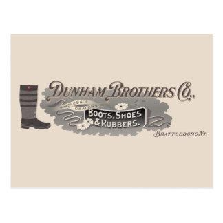 Dunham Bros. Co., Brattleboro, VT Logo Postcard