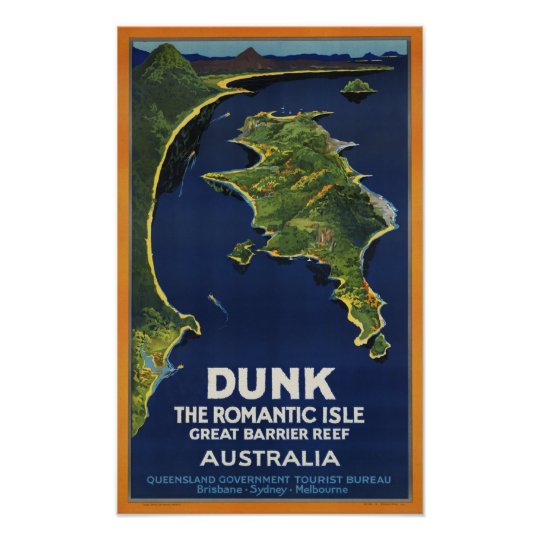 Dunk Island Australia: Dunk Island ~ Vintage Australia Travel Poster