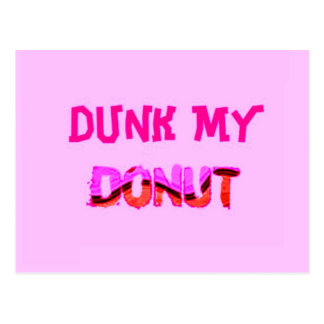 Dunk My Donut Postcard