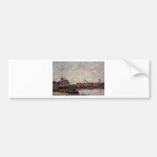 Dunkirk, the Inner Port by Eugene Boudin Bumper Sticker