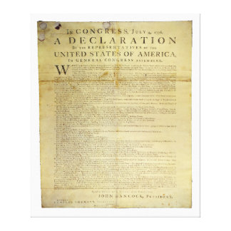 Dunlap Broadside Declaration of Independence 1774 Gallery Wrapped Canvas