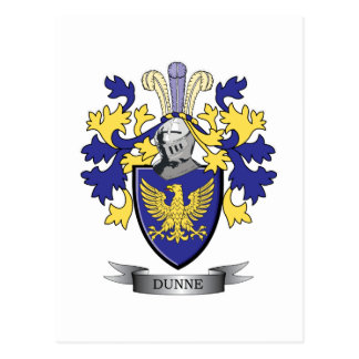 Dunne Coat of Arms Postcard