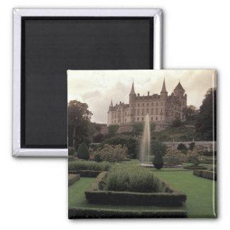 Dunrobin Castle, Scotland Square Magnet