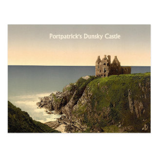 Dunsky Castle at Portpatrick Postcard