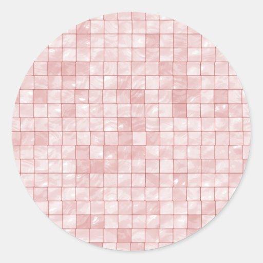 Duo-Tone Pastel Pink Tile Pattern Stickers