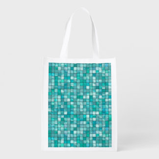 Duo-tone Teal Geometric Tile  Pattern