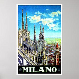 Duomo Church in Milan Italy Poster