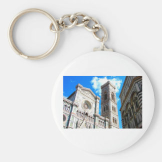 Duomo in Florence, Italy Basic Round Button Key Ring