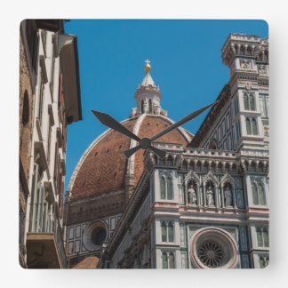 Duomo in Florence Italy Square Wall Clock