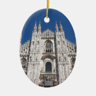 Duomo Milano Gothic Cathedral Church Milan Italy Ceramic Ornament