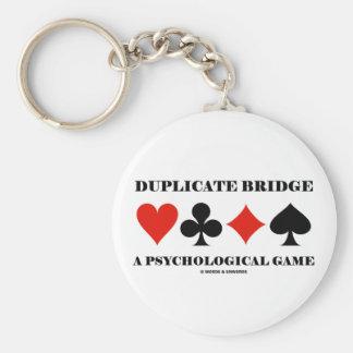 Duplicate Bridge A Psychological Game Basic Round Button Key Ring