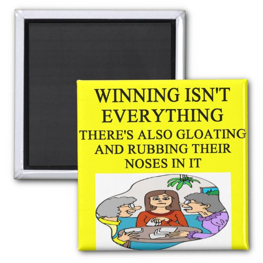 duplicate bridge and game players joke magnet