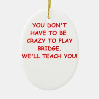 duplicate bridge ceramic ornament
