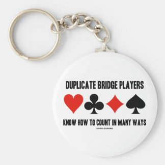 Duplicate Bridge Players Know How To Count Key Chains
