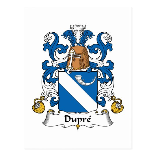 Dupre Family Crest Postcard