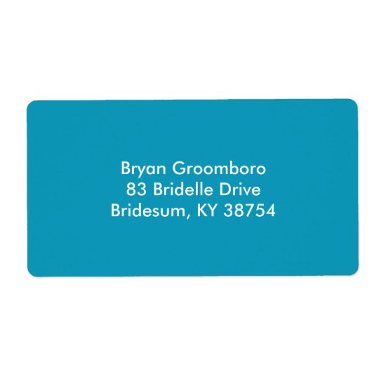 Durable Monochrome Shipping Label
