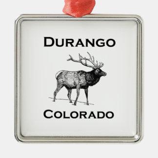 Durango Colorado Elk Metal Ornament