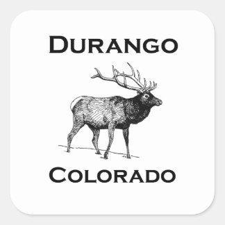 Durango Colorado Elk Square Sticker