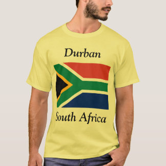 Durban, South Africa with South African Flag T-Shirt