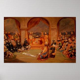 Durbar at Udaipur, Rajasthan, 1855 Poster