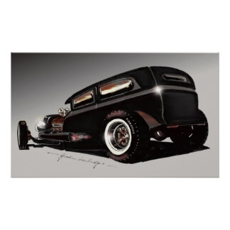 Durbie Rat Rod Poster