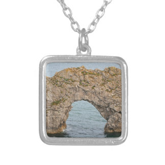 Durdle Door Arch, Dorset, England 2 Silver Plated Necklace