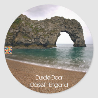 Durdle Door - Dorset - England (Stickers) Classic Round Sticker