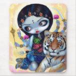 """Durga and the Tiger"" Mousepad"