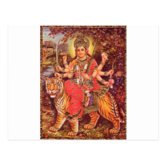 DURGA AND THE TIGER POSTCARD