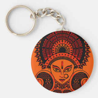 durga basic round button key ring