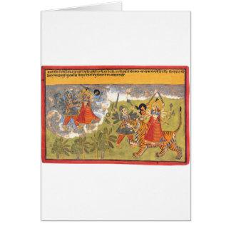 Durga fights the Daitya Raja Card