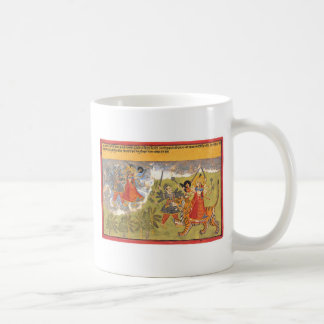 Durga fights the Daitya Raja Coffee Mug