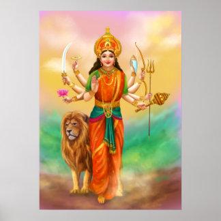 Durga goddess poster