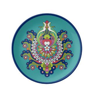 "Durga Porcelain Plate III 8.5"""