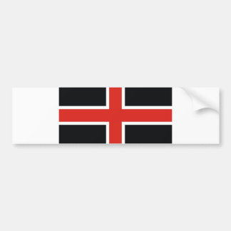 durham city flag united kingdom town bumper sticker