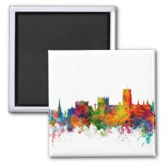 Durham England Skyline Cityscape Magnet