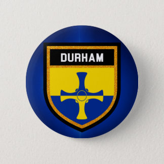 Durham Flag 6 Cm Round Badge