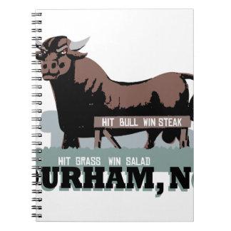 Durham NC Bull Spiral Notebook